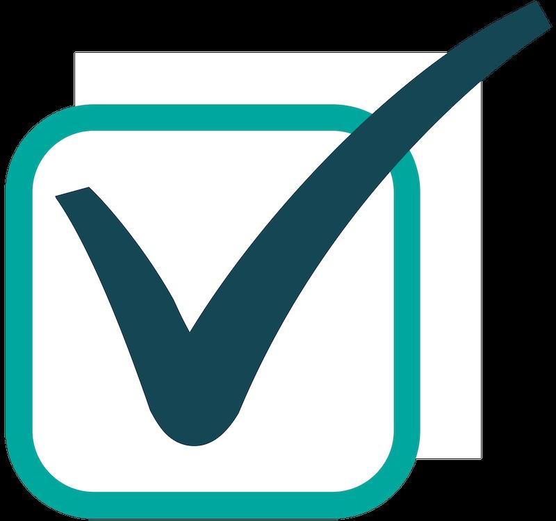 Green square checklist icon