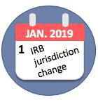 Calendar showing date (Jan 1) of U-M IRB jurisdiction change