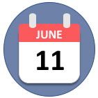 Calendar showing a date of June 11